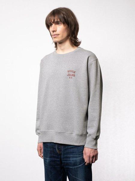 Nudie Jeans Frasse Logo Sweatshirt - Grey Melange