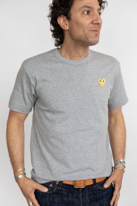 Comme des Garçons Gold Heart Patch T-Shirt - Grey