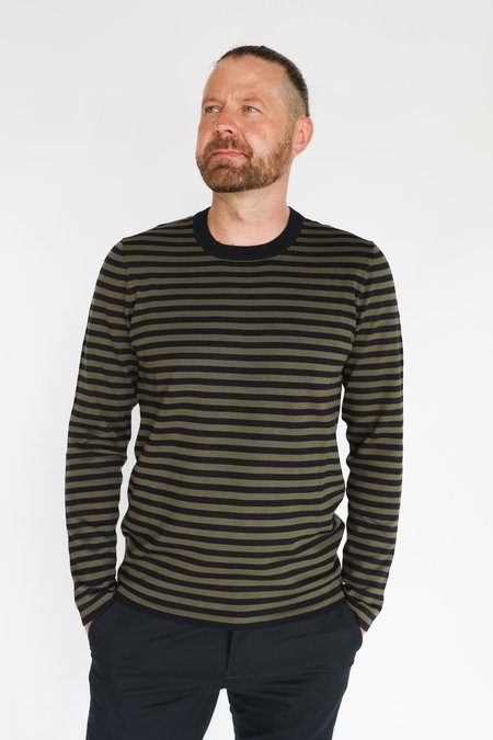 MATINIQUE Lennon Knitted Pullover - Olive/Night