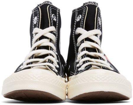 Comme des Garçons Play Converse Chuck High Sneakers - BLACK