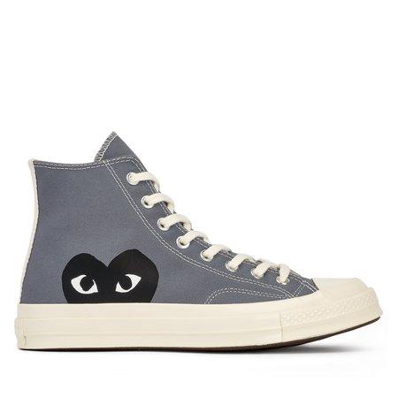 Comme des Garçons Play Converse Chuck High Sneakers - gray