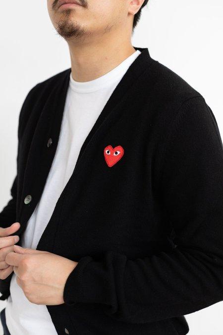 Comme des Garçons Red Heart Play Cardigan - black
