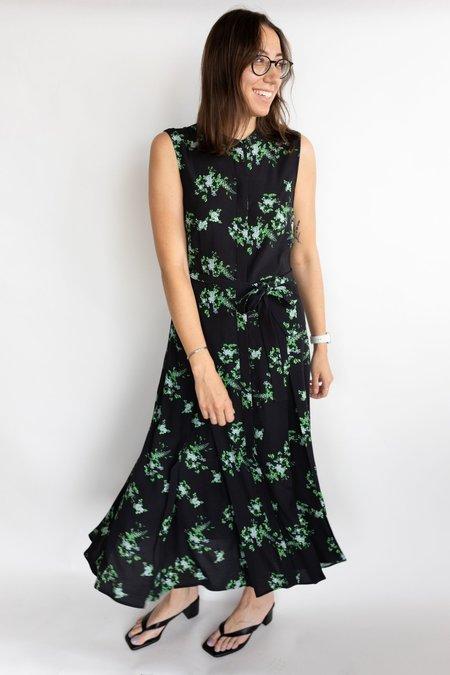 Judith & Charles Salerno Dress - Black/Green Print