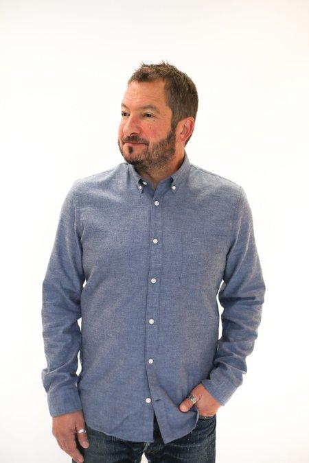 MATINIQUE Trostol Chambray Flannel Shirt - Dust Blue