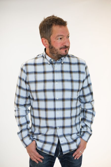 MATINIQUE Trostol Flannel Shirt - Chambray Blue