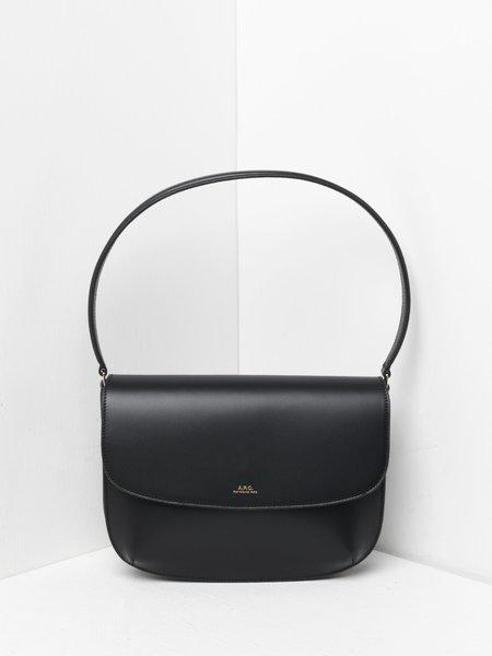 A.P.C. sac sarah shoulder Bag - LZZ BLACK