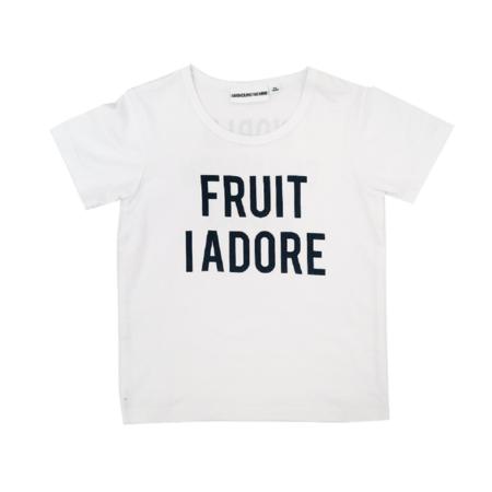 KIDS GARDNER AND THE GANG Fruit I Adore Tee - WHITE
