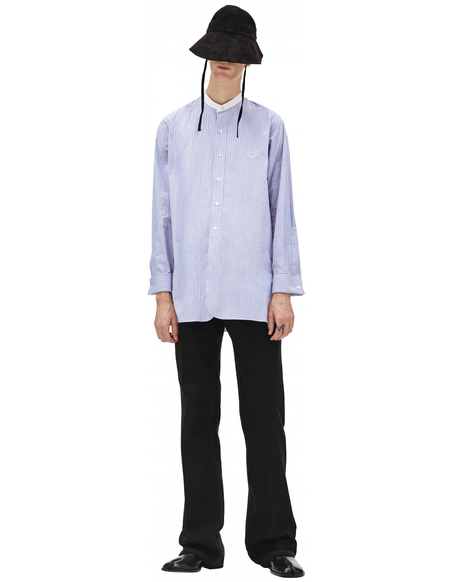 Maison Margiela Blue striped embroireded shirt - Blue