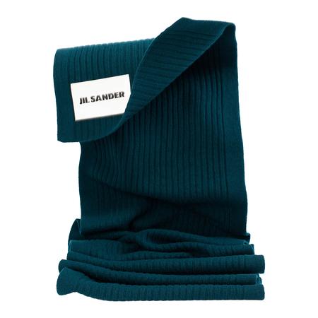 Unisex Jil Sander Green Ribbed Wool Scarf - Green