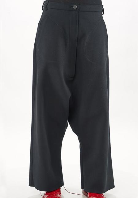 Rundholz Pocket Detail Bold Drop Seat Trousers - Black