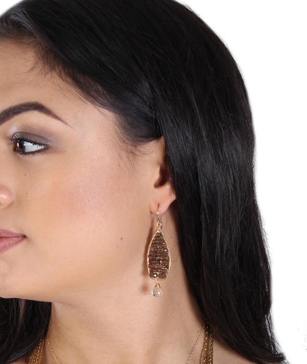 Andalucite & Green Amethyst Earrings