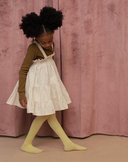Kids Noble Organic Fia Dress - Oat Milk