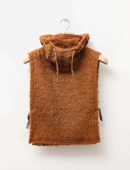 Engineered Garments Solid Mohair Hooded Interliner - Brown