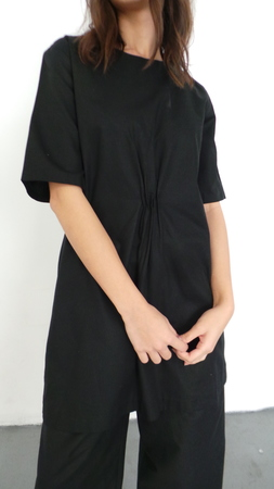 DELFINA BALDA HEBE TUNIC - BLACK