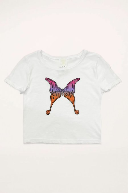 Anna Sui Butterfly Baby Tee - Marigold