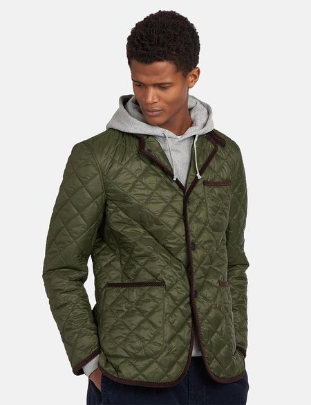 Barbour x Engineered Garments Loitery Quilted Jacket - Olive Green