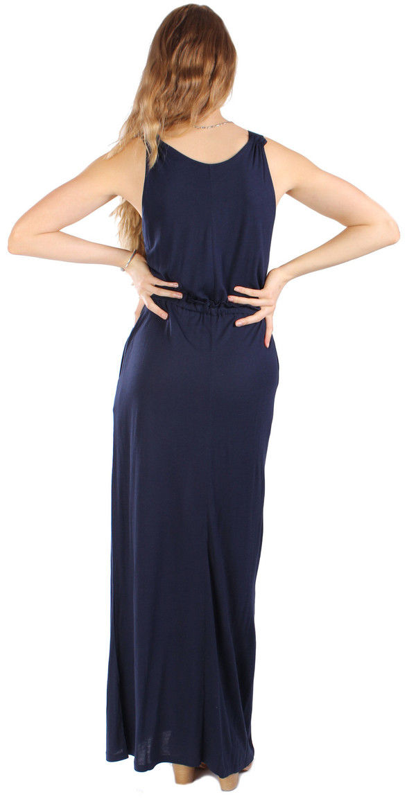 Chinti and Parker Bamboo Jersey Maxi V-Neck Dress