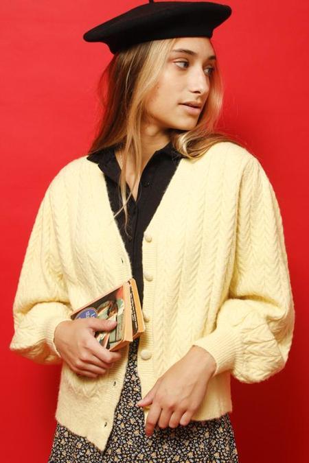 Frnch Knit Cardigan - Citron