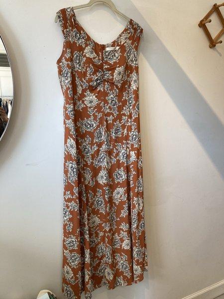 Morningtide LOOP  Christy Dawn Floral Dress - Orange Floral