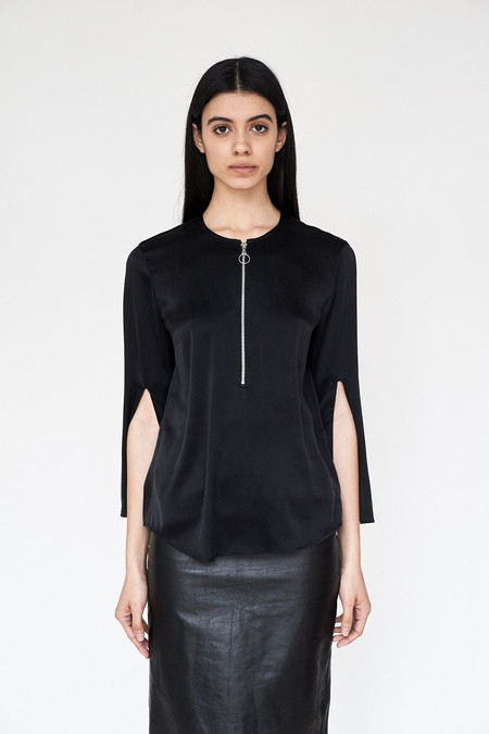 Assembly New York Silk Split Sleeve Top
