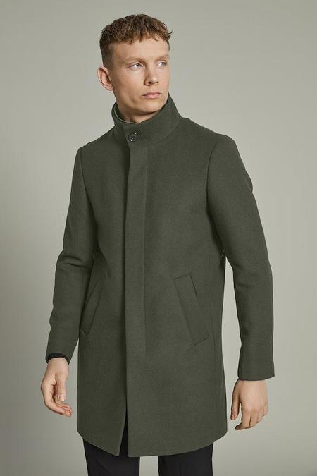 MATINIQUE Harvey Wool Coat - Forest Night