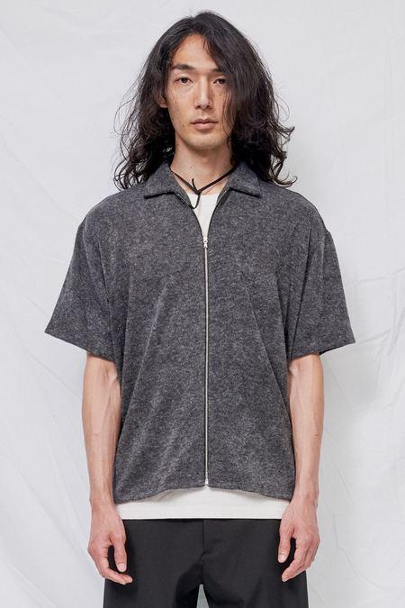Assembly Knit Zip Camp Shirt - Grey