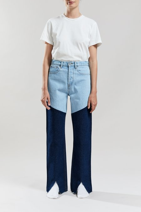Still Here New York Color Block Childhood Jeans - Vintage Blue/Indigo