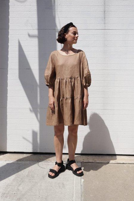 Bronze Age Nati Linen Dress - Toast