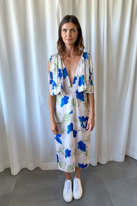 Rejina Pyo Norma Dress - White/Blue