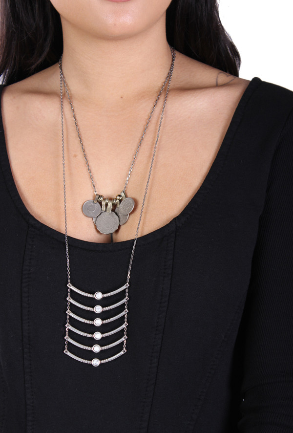 Ax + Apple Breastplate Necklace in Silver