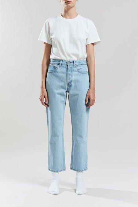 Still Here New York Shibori Tate Crop Jeans - Vintage Blue