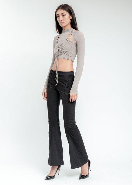 Hyein Seo Low Rise Pants - Black