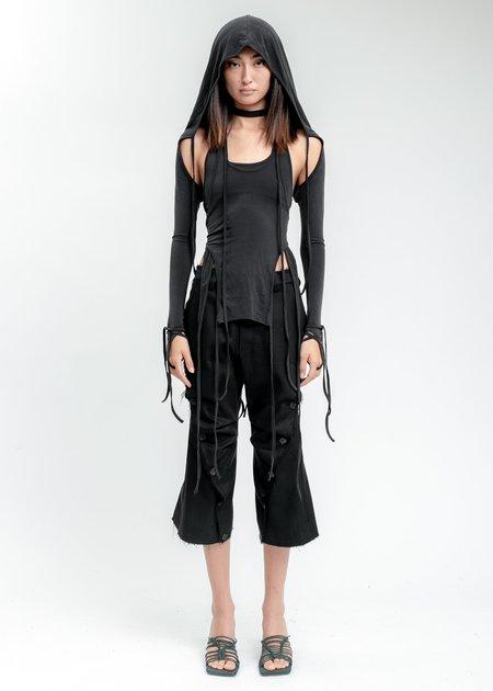 Hyein Seo Wool Wavy Pants - Black