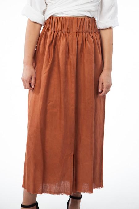 Miranda Bennett Paper Bag Skirt - Linen in Marfa