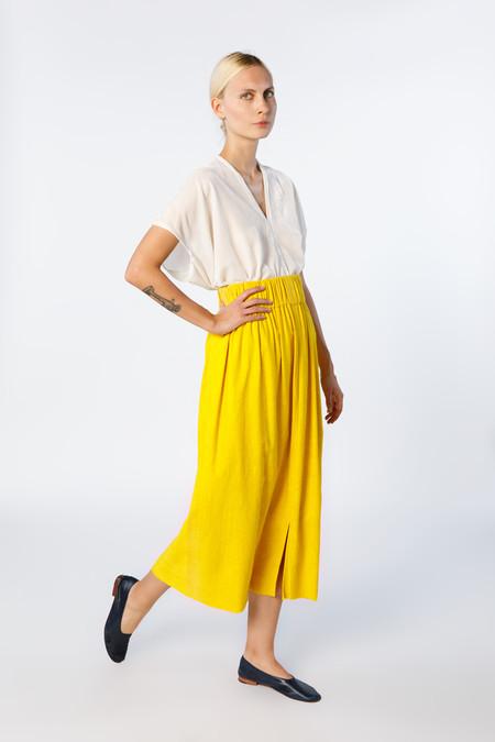 Miranda Bennett Paper Bag Skirt - Silk Noil in Marigold