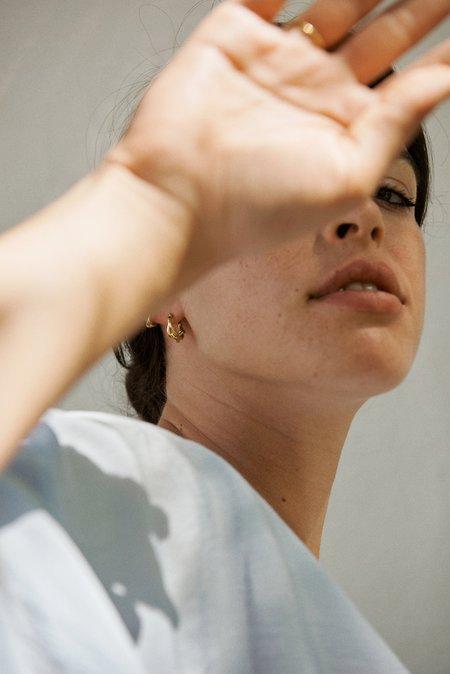 Hana Kim Small Vine Hoop - Silver