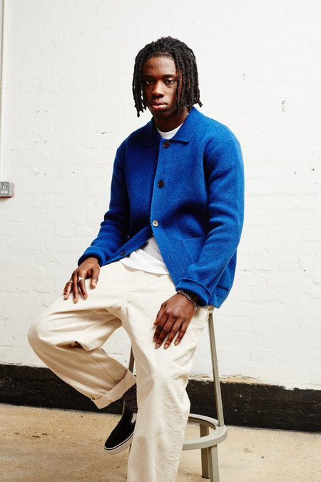 Country of Origin Knit Chore Jacket - Blue