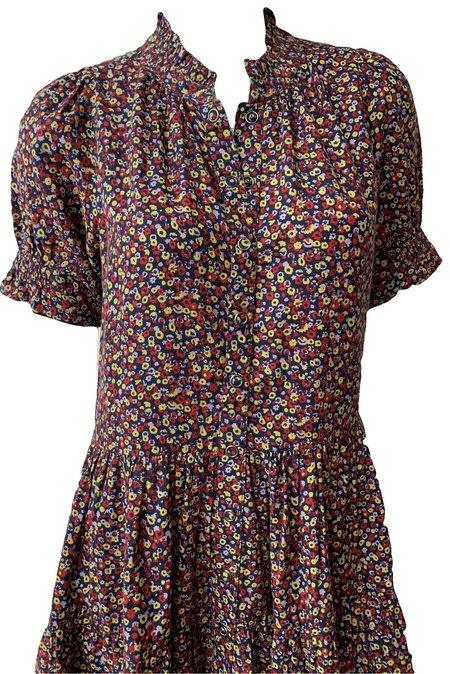 Apiece Apart Las Alturas Mini Dress - Dotty Floral Crimson