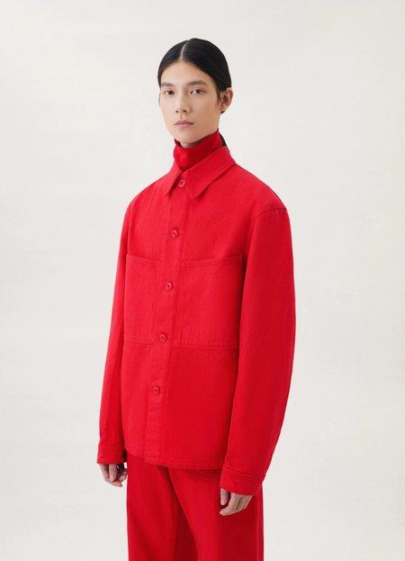 Lemaire Denim overshirt - poppy red