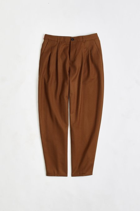 A Kind of Guise Pleated wide trousers - copper
