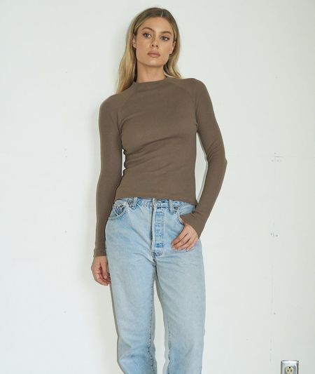 LNA Lyndell Long Sleeve - Taupe