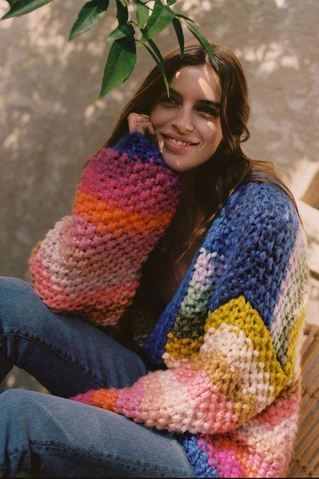 Mabel and Moss Nadine Stripe Cardigan Sweater