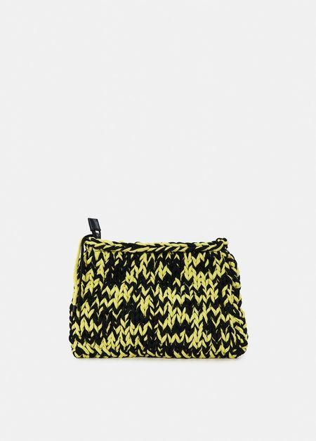 Essentiel Antwerp Knitted Pouch - Black/Yellow
