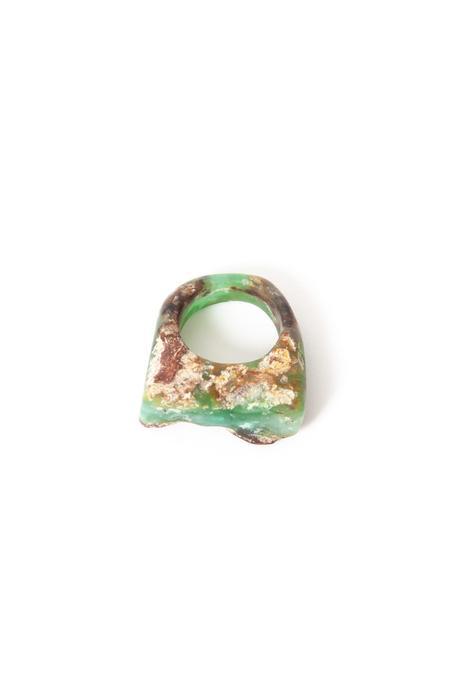 Margaret Hinge Rough Chrysoprase Ring
