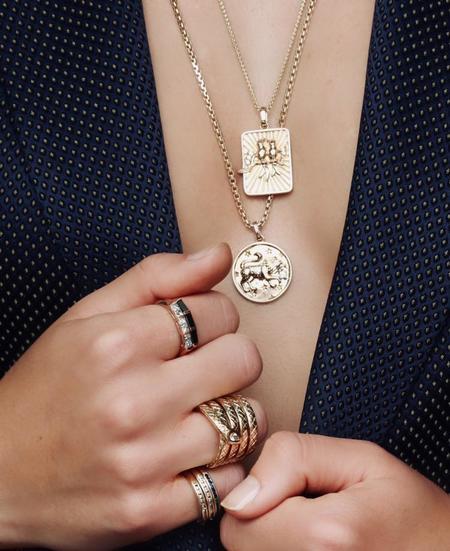 Helena Rose Lovebirds Necklace -  Gold