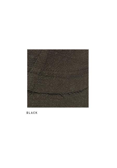 MAKS Asymmetric Boiled Linen Draped Multilayer Collar Blazer - Black