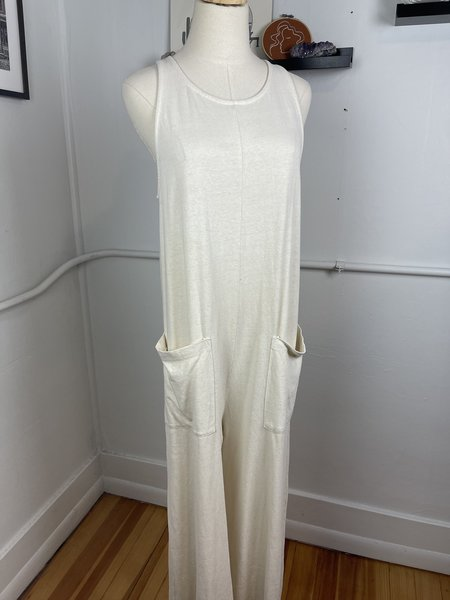 [pre-loved] Back Beat Co. Natural Jumpsuit - cream