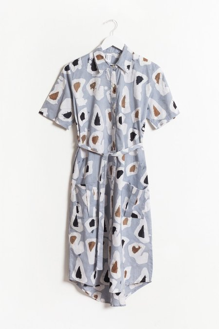 Osei Duro Agona Dress - Grey Platelets