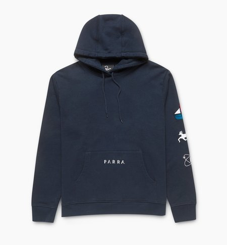 BY PARRA Paper Dog Systems Hooded Sweatshirt - Navy Blue