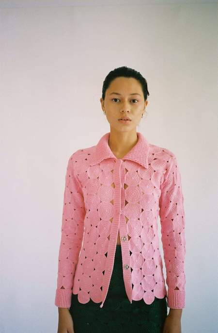 Mozh Mozh Circle Sama Shirt - pink